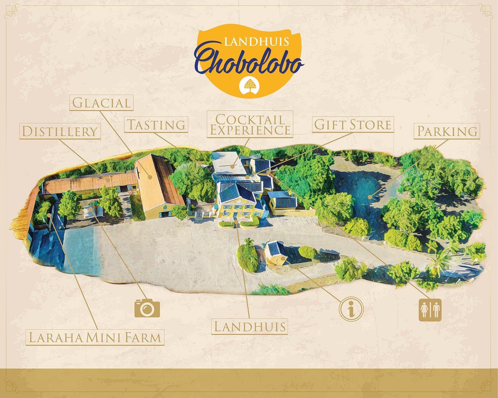 Landhuis Chobolobo Map