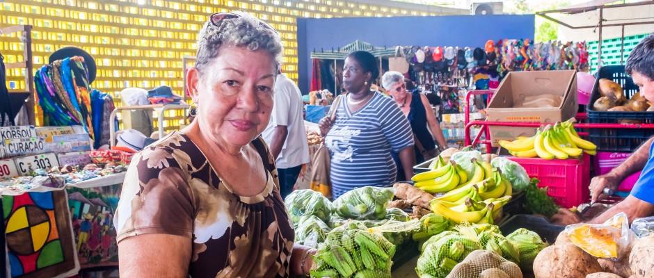 At Plasa Bieu Curaçao during the Culinary Walking Tour