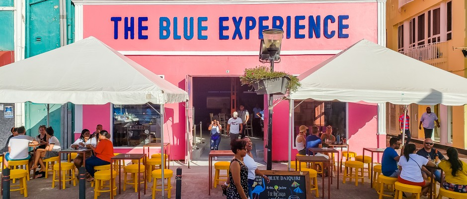 Front view of The Blue Experience Café