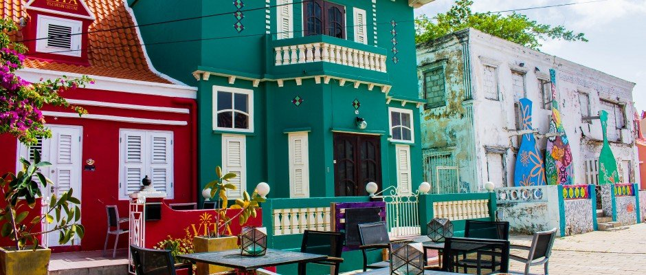 Colorful Buildings at Pietermaai in Curaçao